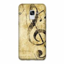 Coque Samsung Galaxy J6 PLUS - J610 Musique clé sol vintage