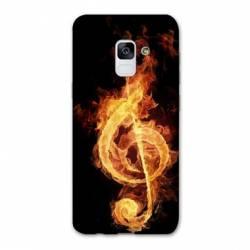 Coque Samsung Galaxy J6 PLUS - J610 Musique clé sol feu N