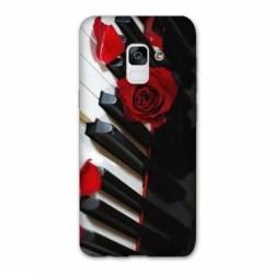 Coque Samsung Galaxy J6 PLUS - J610 Musique Rose Piano