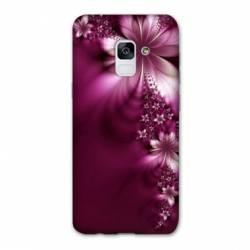 Coque Samsung Galaxy J6 PLUS - J610 fleur violette montante