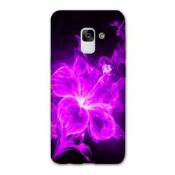 Coque Samsung Galaxy J6 PLUS - J610 fleur hibiscus violet