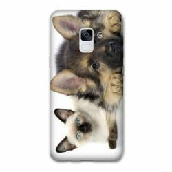 Coque Samsung Galaxy J6 PLUS - J610 Chien vs chat