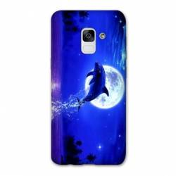 Coque Samsung Galaxy J6 PLUS - J610 Dauphin lune