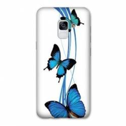 Coque Samsung Galaxy J6 PLUS - J610 papillons bleu