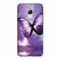 Coque Samsung Galaxy J6 PLUS - J610 papillons violet et blanc