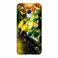 Coque Samsung Galaxy J6 PLUS - J610 papillons papillon jaune