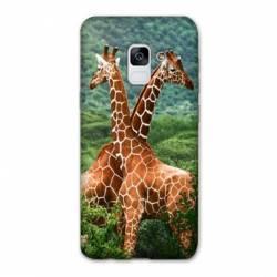 Coque Samsung Galaxy J6 PLUS - J610 savane Girafe Duo