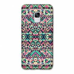 Coque Samsung Galaxy J6 PLUS - J610 motifs Aztec azteque rose