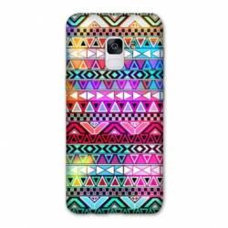 Coque Samsung Galaxy J6 PLUS - J610 motifs Aztec azteque rouge