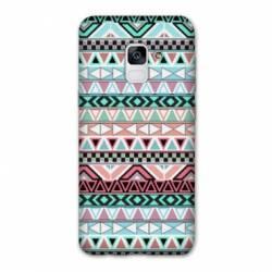 Coque Samsung Galaxy J6 PLUS - J610 motifs Aztec azteque turquoise