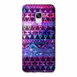Coque Samsung Galaxy J6 PLUS - J610 motifs Aztec azteque violet