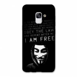 Coque Samsung Galaxy J6 PLUS - J610 Anonymous I am free