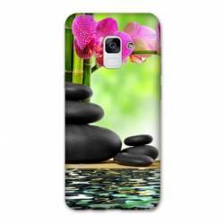Coque Samsung Galaxy J6 PLUS - J610 orchidee eau