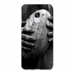 Coque Samsung Galaxy J6 PLUS - J610 Rugby ballon vintage