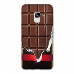 Coque Samsung Galaxy J6 PLUS - J610 Trompe œil chocolat