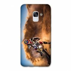 Coque Samsung Galaxy J6 PLUS - J610 Moto Cross Blanc
