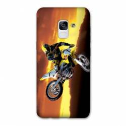 Coque Samsung Galaxy J6 PLUS - J610 Moto Cross Noir