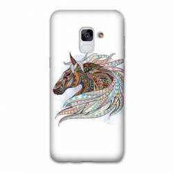 Coque Samsung Galaxy J6 PLUS - J610 Ethniques Cheval Color B