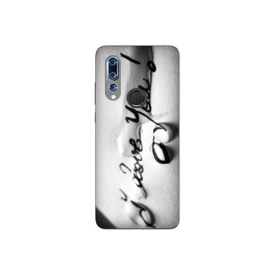 Coque pour Wiko View 3 I love you larme B