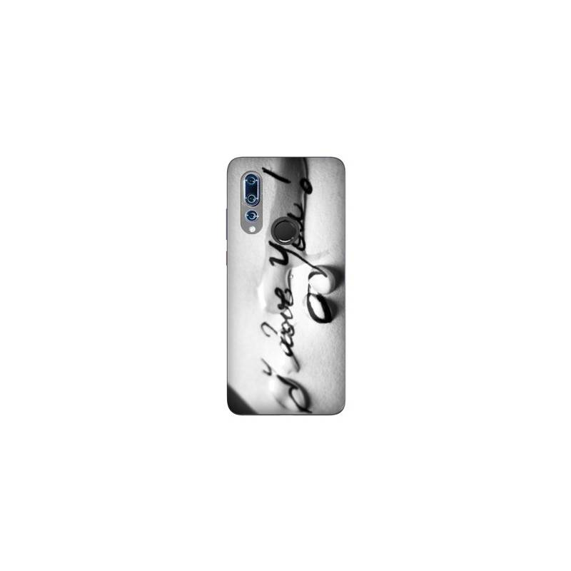 Coque Wiko View 3 I love you larme B
