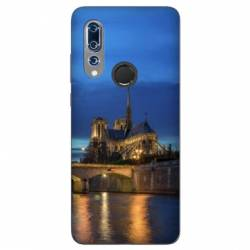 Coque Wiko View 3 France Notre Dame Paris night