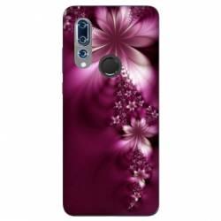 Coque Wiko View 3 fleur violette montante