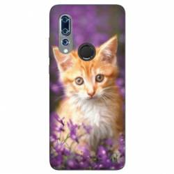 Coque Wiko View 3 Chat Violet