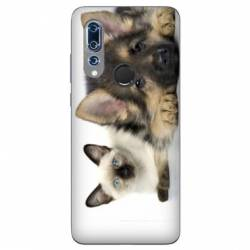 Coque Wiko View 3 Chien vs chat