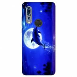 Coque Wiko View 3 Dauphin lune