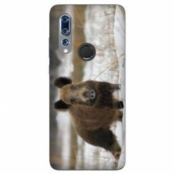 Coque Wiko View 3 chasse sanglier Neige