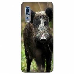 Coque Wiko View 3 chasse sanglier bois