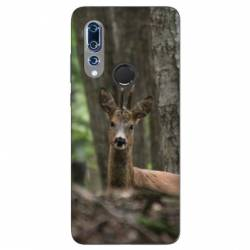 Coque Wiko View 3 chasse chevreuil Bois