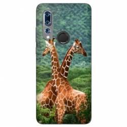 Coque Wiko View 3 savane Girafe Duo
