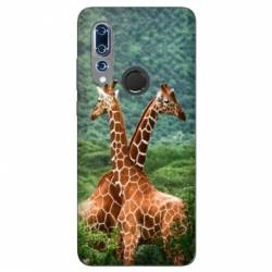 Coque Wiko View 3 savane Girafe Duo