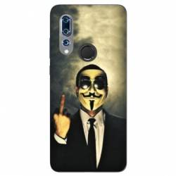 Coque Wiko View 3 Anonymous doigt