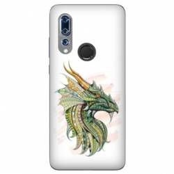 Coque Wiko View 3 Ethniques Dragon Color