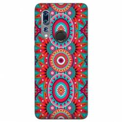 Coque Wiko View 3 Etnic abstrait Pic rouge