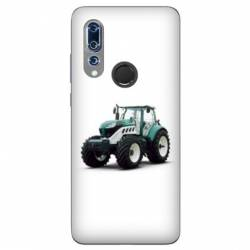 Coque Wiko View 3 Agriculture Tracteur Blanc
