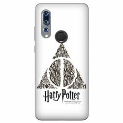 Coque Wiko View 3 WB License harry potter pattern triangle Blanc