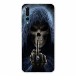 Coque Samsung Galaxy Note 10 tete de mort Doigt