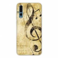 Coque Samsung Galaxy Note 10 Musique clé sol vintage