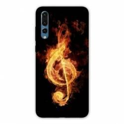 Coque Samsung Galaxy Note 10 Musique clé sol feu N