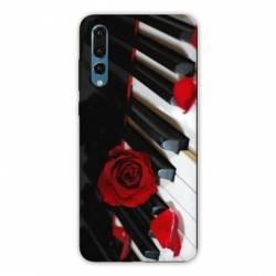 Coque Samsung Galaxy Note 10 Musique Rose Piano
