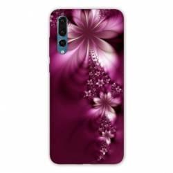 Coque Samsung Galaxy Note 10 fleur violette montante
