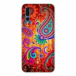 Coque Samsung Galaxy Note 10 fleur psychedelic