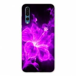 Coque Samsung Galaxy Note 10 fleur hibiscus violet
