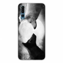 Coque Samsung Galaxy Note 10 Loup Duo