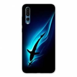 Coque Samsung Galaxy Note 10 Requin Noir
