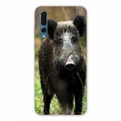 Coque Samsung Galaxy Note 10 chasse sanglier bois