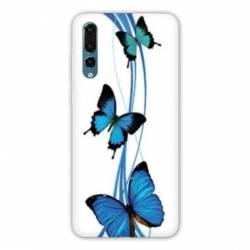 Coque Samsung Galaxy Note 10 papillons bleu
